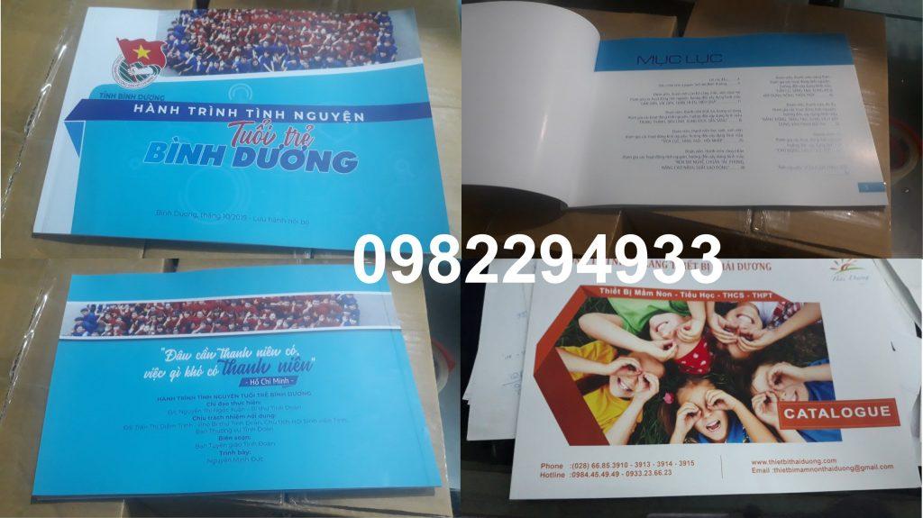 in catalogue A4 ngang Bình Dương